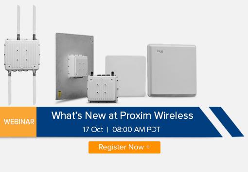 Webinar: What's New at Proxim Wireless